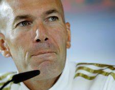 Zinedine Zidane asegura que todos son los responsables por los resultados en la Champions. (Foto Prensa Libre: EFE)