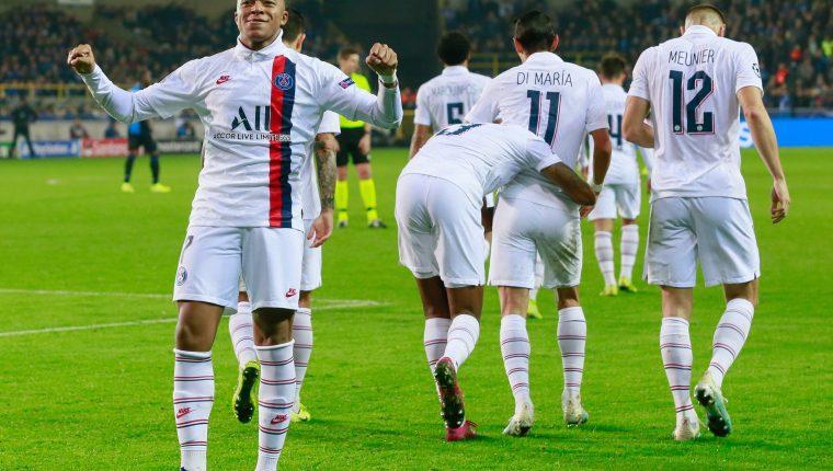 Kylian Mbappé tuvo un partido soñado frente al Club Brujas. (Foto Prensa Libre: EFE)