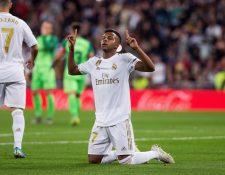 El delantero brasileño del Real Madrid Rodrygo Goes  es una de las joyas del equipo merengue. (Foto Prensa _Libre: EFE)