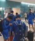 La Selección Nacional llega a Florida, en donde pasarán el día, previo a viajar a Bermuda. (Foto Prensa Libre: cortesía Fedefut)