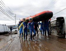 Los rescatistas continúan buscando sobrevivientes (14.10.2019)