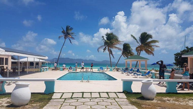 Esta es la vista del Anguilla Great House, en el que se hospeda la Selección Nacional. (Foto Prensa Libre: Facebook Anguilla Great House)