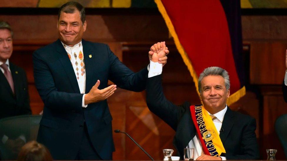 Crisis en Ecuador: Lenín Moreno vs. Rafael Correa, los antiguos aliados cuya enemistad divide al país