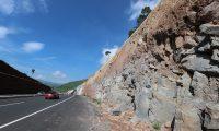 El suelo en el área de Libramiento de Chimaltenango está compuesto de arena, roca y arcilla. (Foto Prensa Libre: César Pérez)
