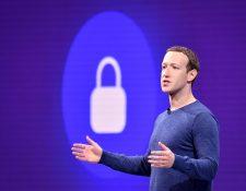 """Mark Zuckerberg prometió  """"luchar y ganar"""" si la aspirante a la candidatura demócrata a la Presidencia de EE.UU. Elizabeth Warren es elegida y saca adelante su plan de dividir las grandes empresas tecnológicas. (Foto Prensa Libre: AFP)"""