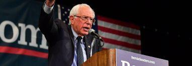 El senador estadounidense Bernie Sanders, aspirante a enfrentar a Donald Trump en las elecciones de 2020. (Foto Prensa Libre: AFP)