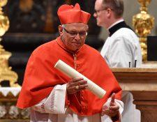 Álvaro Ramazzini Imeri oficiará su primera misa como Cardenal en la Basílica de la Virgen del Rosario. (Foto Prensa Libre: AFP)