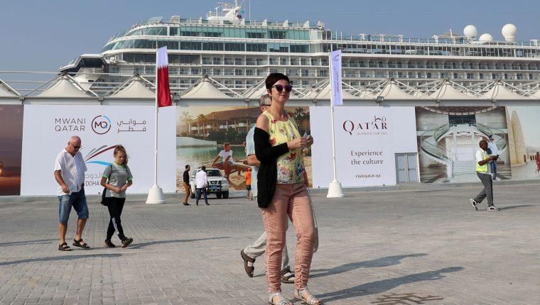 Qatar expande sus puertos y aeropuertos para recibir a los turistas de una nueva temporada de cruceros y también se prepara para recibir la Copa del Mundo en 2022. (Foto Prensa Libre: AFP).