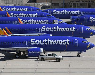 Aviones de la compañía Southwest en un aeropuerto de Estados Unidos. (Foto Prensa LIbre: AFP)