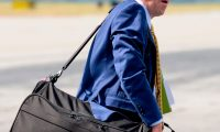 White House Acting Chief of Staff Mick Mulvaney arrives in Columbia Metropolitan Airport in Columbia, South Carolina, on October 25, 2019. (Photo by JIM WATSON / AFP)