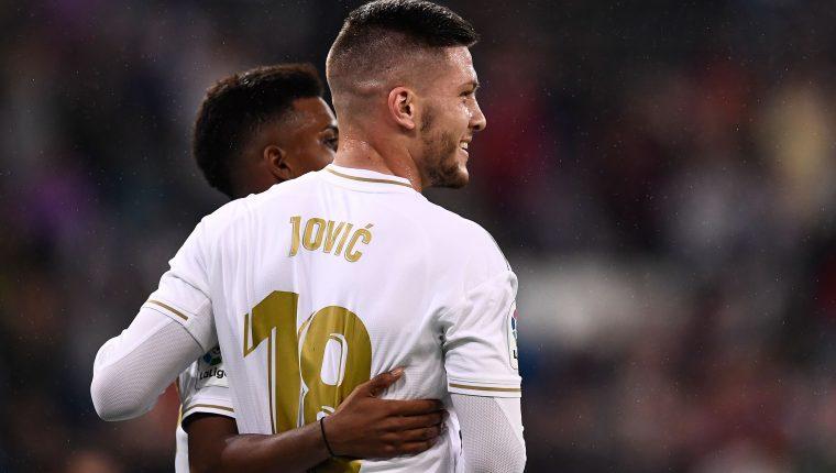 El serbio Luka Jovic marcó su primer gol con el Real Madrid miércoles frente al Leganés. (Foto Prensa Libre: AFP).