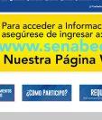 Alerta del sitio original de la Senabed. (Foto Prensa Libre: Imagen tomada del sitio de la Senabed).