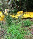 Una avioneta se accidentó en San Salvador con saldo de dos muertos. (Foto Prensa Libre: Fiscalía de El Salvador)