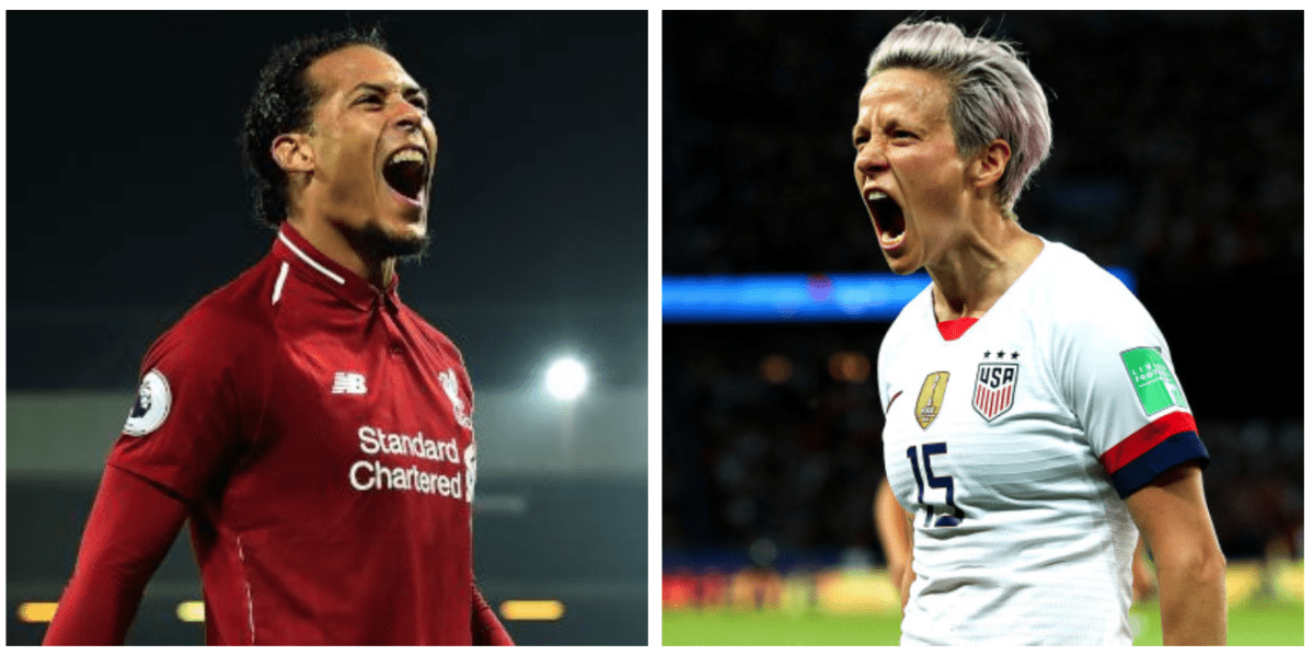 Rapinoe y Van Dijk, entre los favoritos para ganar el Balón de Oro 2019