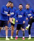 El Barcelona llega motivado al encuentro que disputará este domingo contra el Sevilla. (Foto Prensa Libre: EFE).