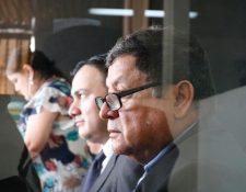 El exdiputado declara en el Juzgado Séptimo Penal en la audiencia de primera declaración por el caso IGSS-Pisa Chiquimula. (Foto Prensa Libre: Fernando Cabrera)