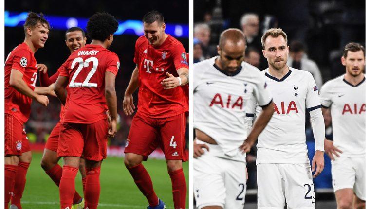 Las dos caras del partido que se jugó en la casa del Tottenham. (Foto Prensa Libre: AFP y EFE)