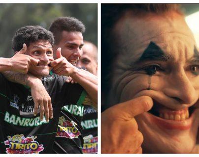 Jairo Arreola celebró este martes como el Joker. (Foto Prensa Libre: Francisco Sánchez)