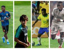 Ellos son los principales jugadores que compiten por el premio  sub 21. (Foto Prensa Libre: EFE, AFP y Hemeroteca PL)
