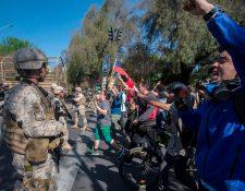 Luego de tres días de protestas, la cantidad de fallecidos asciende a ocho y unos mil 500 detenidos. (Foto Prensa Libre:  AFP)