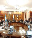 Los 13 magistrados de la CSJ se reunieron en sesión extraordinaria para finalizar su periodo ordinario de funciones. (Foto Prensa Libre: Andrea Domínguez)