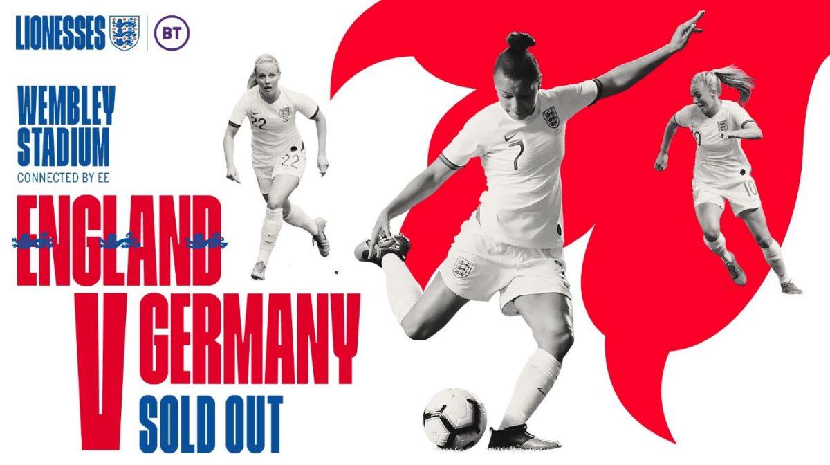 Inglaterra vs Alemania: Wembley espera el partido femenino con más asistencia de la historia en UK