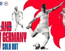 Inglaterra y Alemania se enfrentarán el próximo 4 de noviembre. (Foto Prensa Libre: Twitter @wembleystadium)
