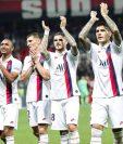 Los jugadores del PSG festejaron y agradecieron a los aficionados al final del juego. (Foto Prensa Libre: Twitter @PSG_espanol)