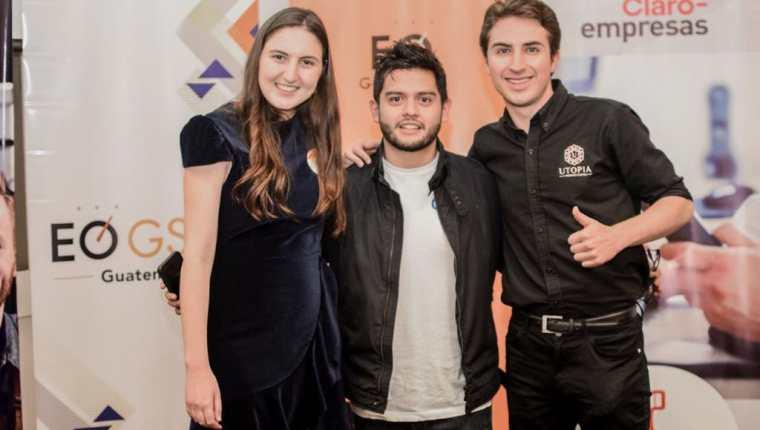 Los tres ganadores de GSEA 2018-2019. (Foto Prensa Libre: Cortesía)