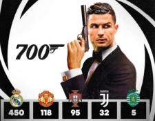 Cristiano Ronaldo llega a 700 goles y su novia Georgina Rodríguez lo celebro con este diseño. (Foto Prensa Libre: Instagram @georginagio)
