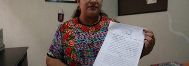 Claudia Pac, directora de Codisra en Quetzaltenango, indicó que colocó la denuncia por el delito de discriminación el martes 29 de octubre de 2019.
