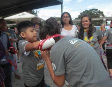 Este domingo a las 8 de la mañana se desarrolló la quinta edición de la Carrera BAMFundaque. (Foto Prensa Libre: Norvin Mendoza)