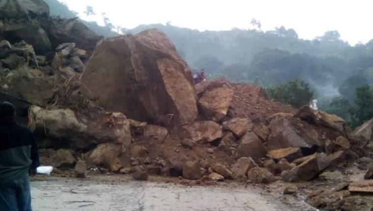 Derrumbe registrado en Chinautla, Guatemala. (Foto Prensa Libre: Conred).