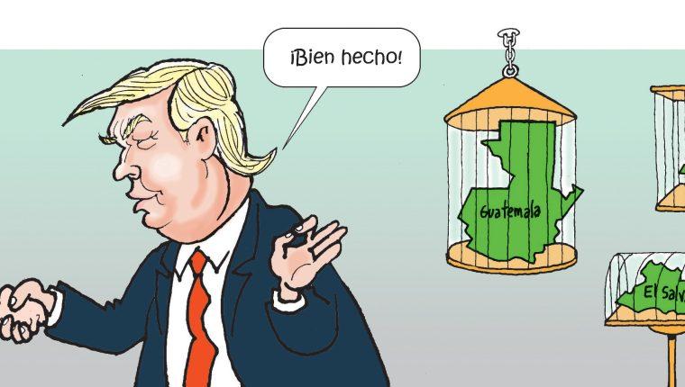 Personajes: Kevin McAleenan y Donald Trump.