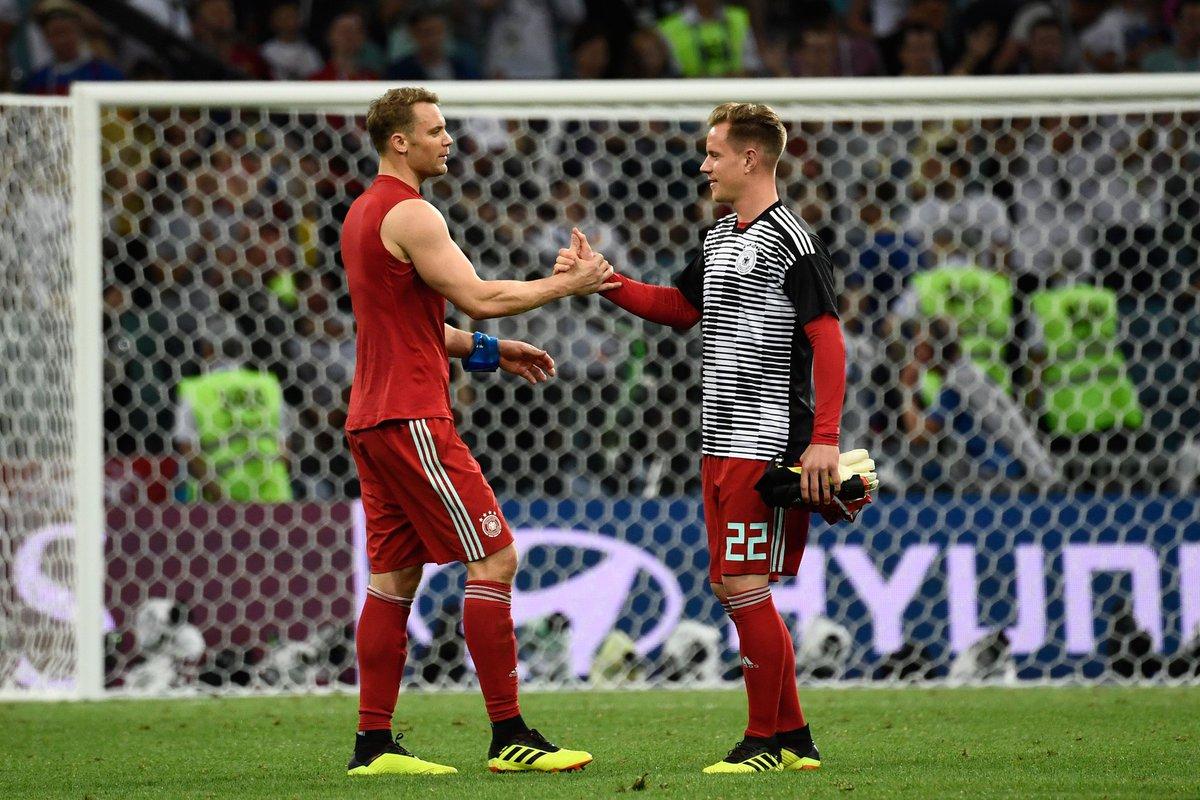 Por la titularidad de la Mannschaft, Ter Stegen jugará contra Argentina y Neuer frente a Estonia
