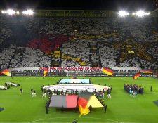 Así fue el mosaico de los alemanes previo al partido amistoso entre Alemania y Argentina que terminó 2-2. (Foto Prensa Libre: Redes)