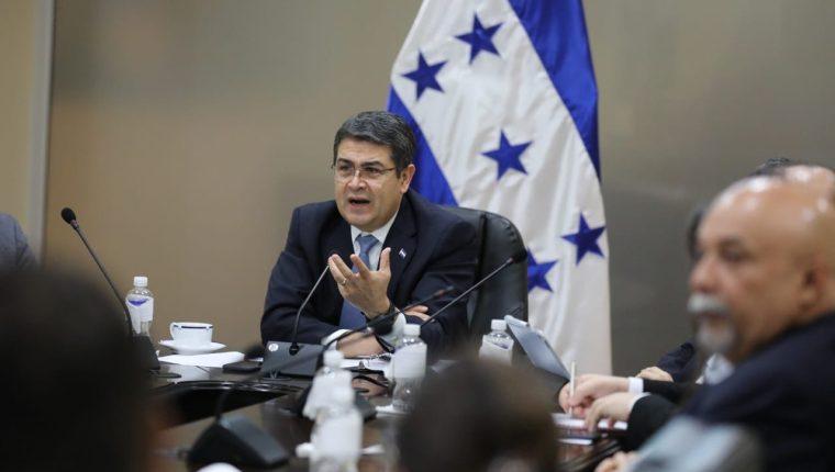 Juan Orlando Hernández, mandatario de Honduras, es señalado de ser coconspirador para el trasiego de drogas hacia Estados Unidos, pero no hay cargos en su contra. (Foto Prensa Libre: Presidencia de Honduras)