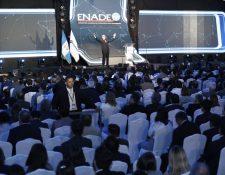 Conferencias y propuestas de reformas en cuatro sectores para fortalecer las instituciones del Estado fueron parte de ENADE 2019. (Foto, Prensa Libre: Esbin García).