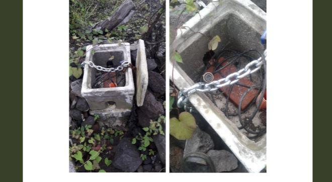 Imágenes de parte del equipo robado que servía para monitorear el Volcán de Fuego. (Foto Prensa Libre: Insivumeh).