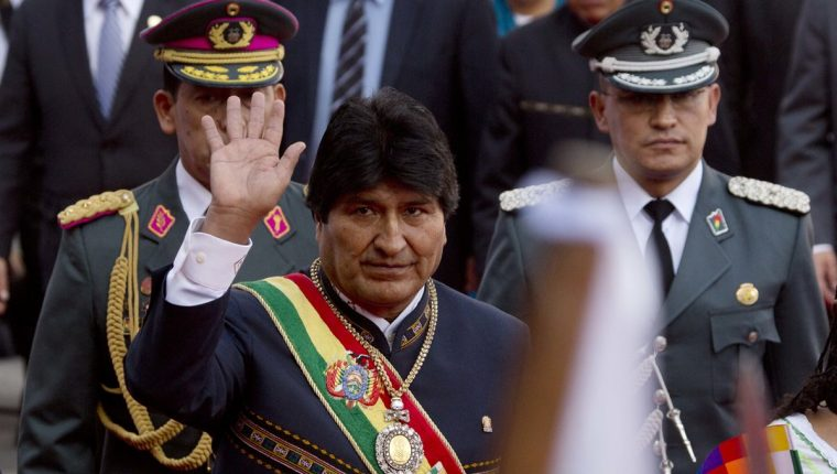 Evo Morales, presidente de Bolivia, llega al Congreso para rendir informe. (Foto Prensa Libre: Hemeroteca)