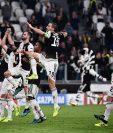 Los jugadores de la Juventus de Turín esperan sumar este fin de semana en la Serie A. (Foto Prensa Libre: AFP)