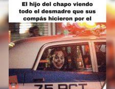 Este es uno de los memes que circulan en las redes sociales sobre la liberación del hijo de Ovidio Guzmán, hijo de Joaquín 'El Chapo'  Guzmán. (Foto Prensa Libre: Redes)