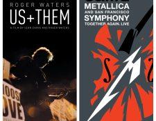 Prepárese para sacudir su cabeza al ritmo de las canciones de Roger Waters y Metallica junto a la Sinfónica de San Francisco en dos proyecciones imperdibles. (Foto Prensa Libre: rogerwatersusandthem.com / metallica.film)