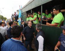 El Gabinete de Seguridad que se reveló en El Salvador fue confirmado por Alejandro Giammattei durante recorrido del tren. (Foto Prensa Libre: Érick Ávila)