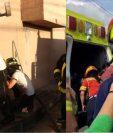 Los bomberos Eddy Méndez y Josué Guzmán han atendido varios incendios, como el sucedido en Mixco este sábado 12 de octubre. (Foto Prensa Libre: Andrea Domínguez. Foto de Méndez imagen de cortesía).