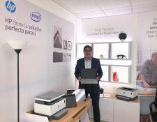 HP lanza sus nuevos modelos de impresión y laptops. Foto. Prensa Libre: Norvin Mendoza
