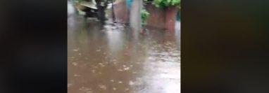 Una de las pareas inundadas en Puerto San José. (Foto Prensa Libre: Tomada de Facebook).