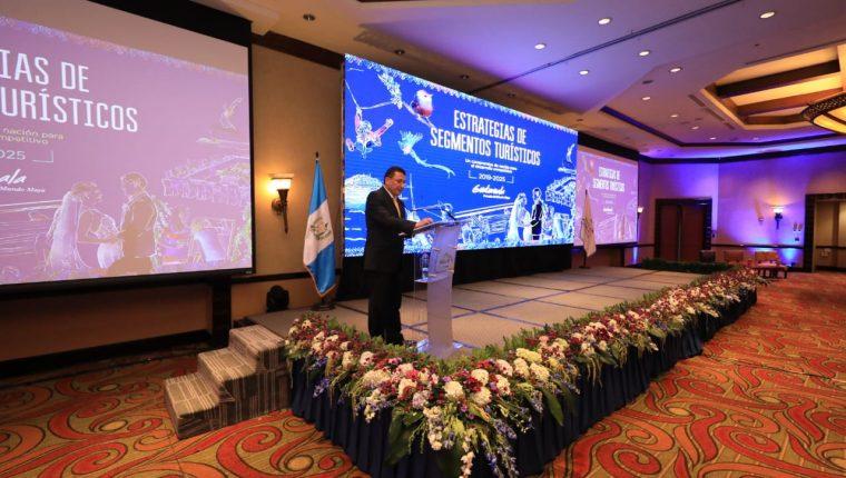 Durante el I Foro Nacional de Turismo se lanzaron estrategias para nueve segmentos turísticos priorizados en el Plan Maestro de Turismo Sostenible de Guatemala 2015-2025. (Foto Prensa Libre: Cortesía Inguat)