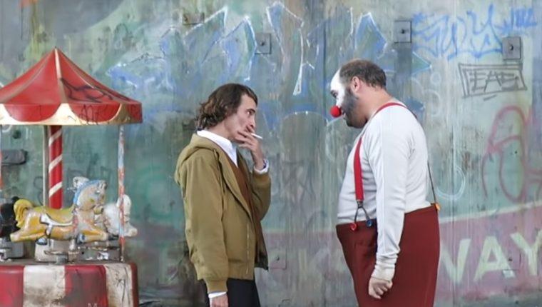 A principio de este año se filtró una escena del Joker, por lo que fue eliminada de la película. Recientemente se hizo viral el video de casi dos minutos. (Foto Prensa Libre: YouTube).