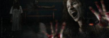 Ilustración de la mujer que asustó a tres empleados de una funeraria en cercanías del Hospital General San Juan de Dios. (Foto Prensa Libre: Diseño de imagen Javier Marroquín).